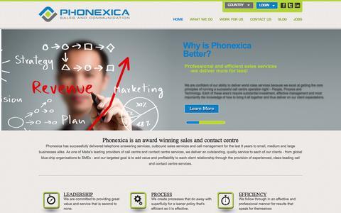 Screenshot of Home Page phonexica.com - home | Phonexica - captured Sept. 29, 2014