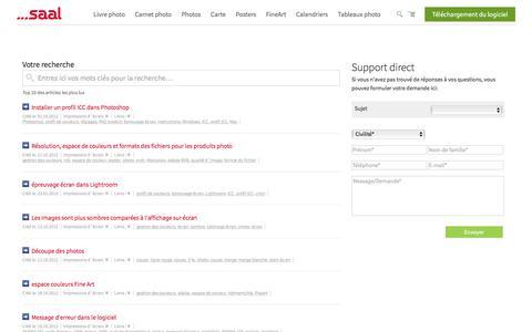 Screenshot of Support Page saal-digital.fr - Formulaire de contact - captured Oct. 2, 2017