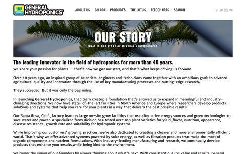 Our Story — General Hydroponics