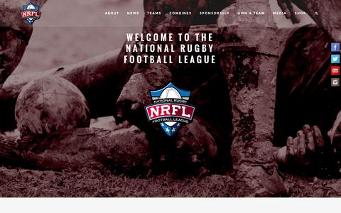 Screenshot of Home Page thenrfl.com - National Rugby Football League | - captured April 25, 2016