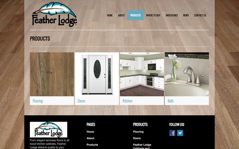 Screenshot of Products Page featherlodge.com - Feather Lodge | Products - captured Oct. 6, 2014