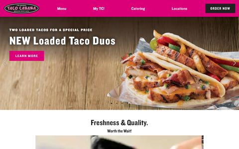Screenshot of Home Page tacocabana.com - Homepage - captured Sept. 22, 2018