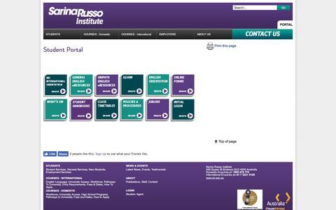 Screenshot of Login Page sri.edu.au - Student Portal | Sarina Russo Institute - captured Jan. 4, 2017