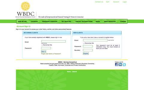 Screenshot of Login Page ctwbdc.org - Login or Register - captured Nov. 4, 2014