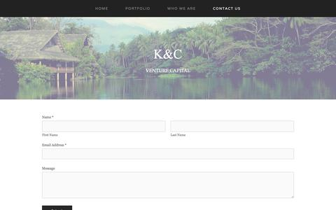 Screenshot of Contact Page keisercharpenet.com - Contact Us — K&C - captured Oct. 17, 2017