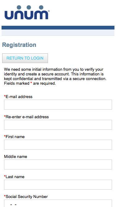 Claimant Registration