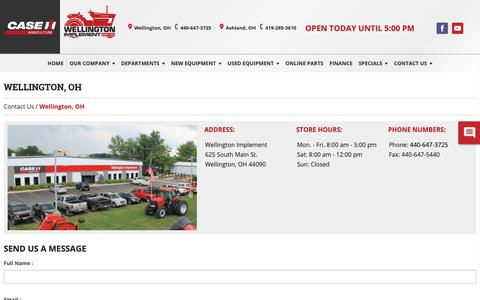 Screenshot of Hours Page wellingtonimplement.com - Our Contact Information With Hours, Location, And Phone Number » Wellington Implement, Ohio - captured Oct. 24, 2018