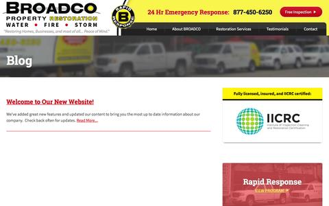 Screenshot of Blog broadcoinc.com - Blog - Broadco Property Restoration - captured Feb. 7, 2016