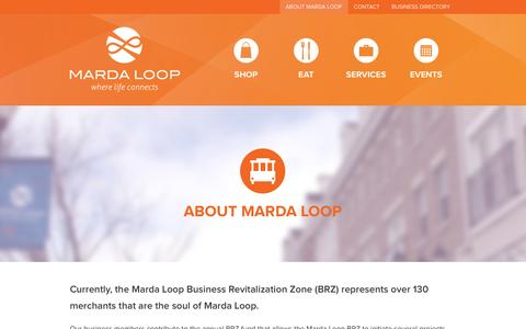 Screenshot of About Page mardaloop.org - About Marda Loop BRZ - captured Oct. 27, 2014