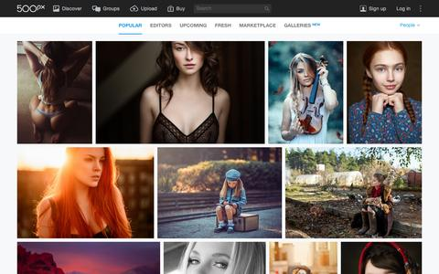 Screenshot of Team Page 500px.com - Most Popular People Photos on 500px Right Now - captured Jan. 29, 2016