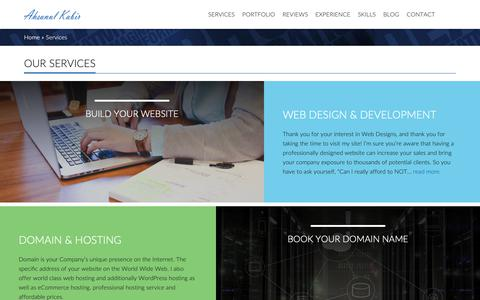 Screenshot of Services Page ahsanulkabir.com - Website Design and Web Development Services - captured Oct. 21, 2018