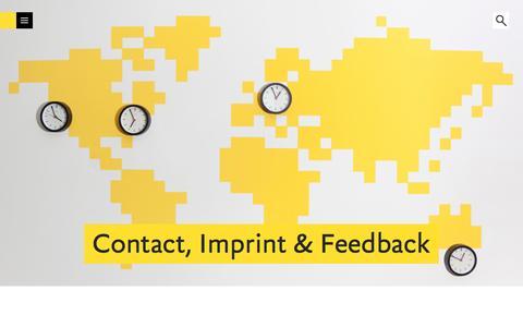Screenshot of Contact Page fontshop.com - FontShop | Contact, Imprint & Feedback - captured Jan. 8, 2016