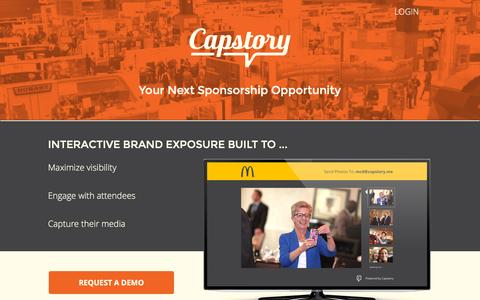 Screenshot of Home Page capstory.me - Capstory || Engage Your Event Attendees - captured Nov. 3, 2015