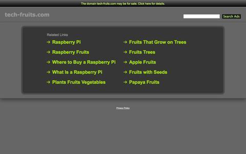 Screenshot of Home Page tech-fruits.com - Tech-Fruits.com - captured Oct. 7, 2014