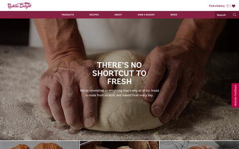 Screenshot of Home Page bakersdelight.com.au - Bakery - Fresh Delightful Bread | Bakers Delight AU - captured Nov. 6, 2018