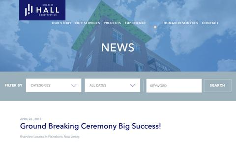 Screenshot of Press Page hallmanagement.com - Latest News   Charles Hall Construction - captured Nov. 10, 2018