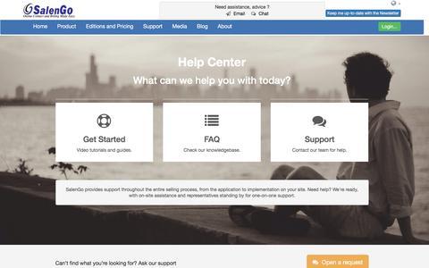 Screenshot of Support Page salengo.com - SalenGo - Simple online and billing software - captured Nov. 17, 2016