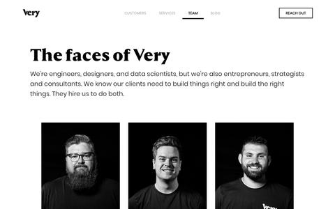 Screenshot of Team Page verypossible.com - Meet the Team   Very Possible Product Development - captured Sept. 21, 2018