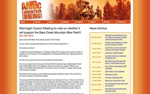 Screenshot of Press Page ambc.com.au - Australian Mountain Biking Clinics - captured Oct. 4, 2018