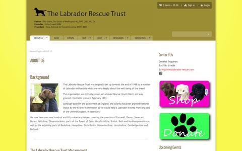 Screenshot of About Page labrador-rescue.com - ABOUT US - Labrador Rescue Trust | Rescue and Rehoming LabradorsLabrador Rescue Trust | Rescue and Rehoming Labradors - captured Nov. 5, 2014