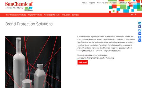 Brand Protection Solutions | Sun Chemical