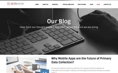Screenshot of Blog actiknow.com - Blog - Actiknow - captured Oct. 3, 2018