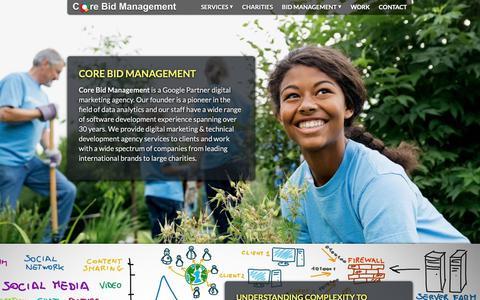 Screenshot of Home Page corebidmanagement.com - Core Bid Management - captured Nov. 4, 2018