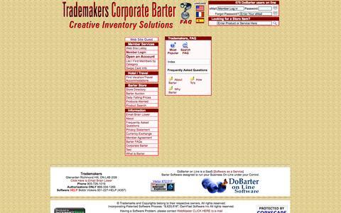 Screenshot of FAQ Page trademakers.ca - Trademakers - captured Oct. 31, 2014