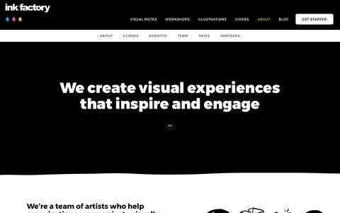 Screenshot of About Page inkfactorystudio.com - Meet the Ink Factory Team - Ink Factory - captured Nov. 14, 2018