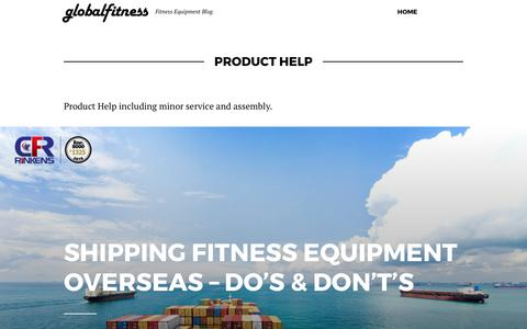 Screenshot of Support Page globalfitness.com - Product Help Archives - globalfitness - captured Aug. 8, 2017