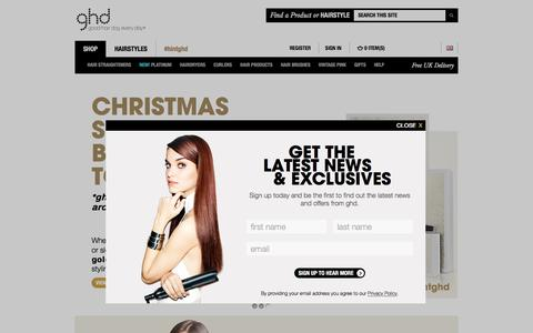 Screenshot of Home Page ghdhair.com - ghd® Official Website | ghd® Hair Straighteners | Free Next Day Delivery - captured Oct. 15, 2015
