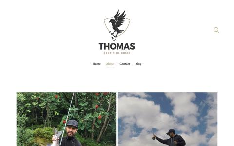 Screenshot of About Page thomaspilegaard.com - About — Thomas Pilegaard - captured Nov. 25, 2016
