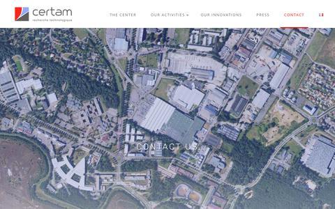 Screenshot of Contact Page certam.fr - Contact us — CERTAM - captured Nov. 3, 2018