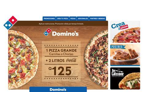 Screenshot of Home Page dominos.com.gt - Home - Dominos - captured Jan. 29, 2016