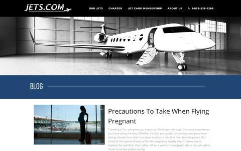 Screenshot of Blog jets.com - Private Jet Rental Blog - Private Jets Charter | Jets.com - captured Dec. 17, 2018
