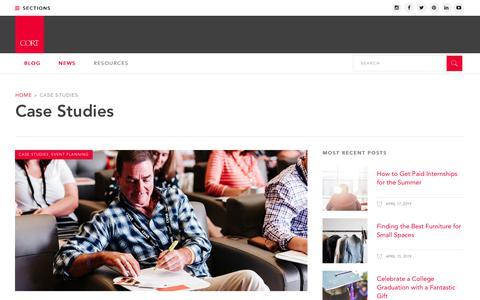 Screenshot of Case Studies Page cort.com - Case Studies | CORT Furniture Rental Blog - captured April 18, 2019