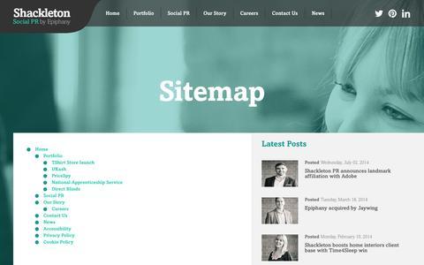 Screenshot of Site Map Page shackletonpr.co.uk - Sitemap - captured Sept. 19, 2014