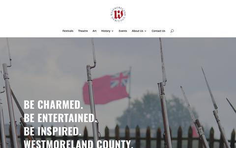 Screenshot of Home Page westmorelandheritage.org - Westmoreland Heritage | Westmoreland Heritage is a nonprofit organization focused on promoting heritage and cultural tourism in Westmoreland County, Pennsylvania. - captured Oct. 20, 2018