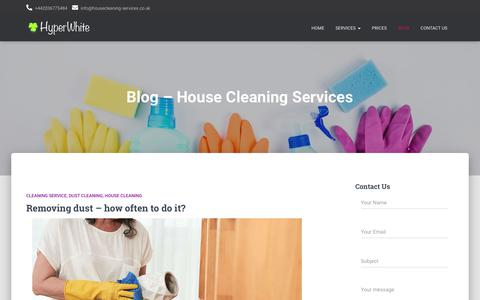 Screenshot of Blog housecleaning-services.co.uk - Blog - House Cleaning Services - London - captured Nov. 7, 2019