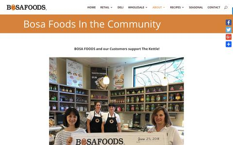 Screenshot of Press Page bosafoods.com - NEWS - Bosa Foods - captured Aug. 3, 2018