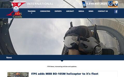 Screenshot of Press Page itpscanada.com - News – ITPS Canada - captured Feb. 11, 2016