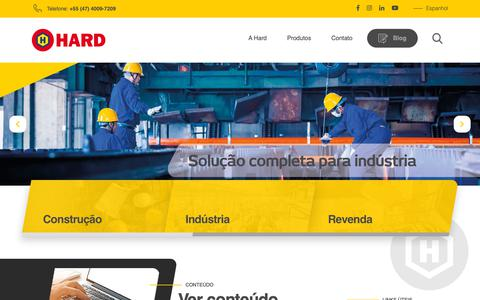 Screenshot of Home Page hard.com.br - Hard - Comércio de Fixadores e Resinas - - captured Nov. 9, 2018