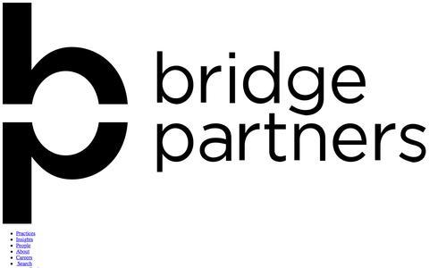Screenshot of Team Page bridgepartnersconsulting.com - People | Bridge Partners - captured May 11, 2018