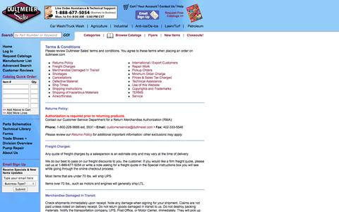 Screenshot of Terms Page dultmeier.com - Terms & Conditions   Dultmeier Sales - captured Sept. 23, 2014