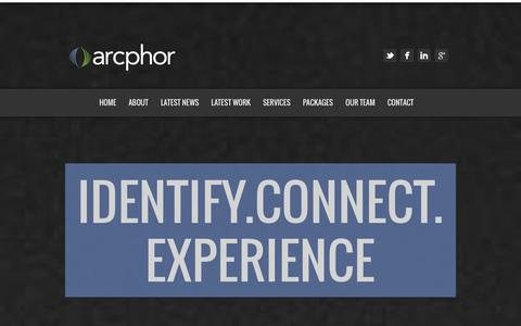 Screenshot of Contact Page Services Page arcphor.com - Arcphor | Business Strategy, Communication and Information Technology Services. Idenitfy | Connect | Experience - captured Nov. 6, 2014