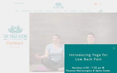 Screenshot of Contact Page theyogascene.com - The Yoga Scene | Contact Us - captured Nov. 7, 2018