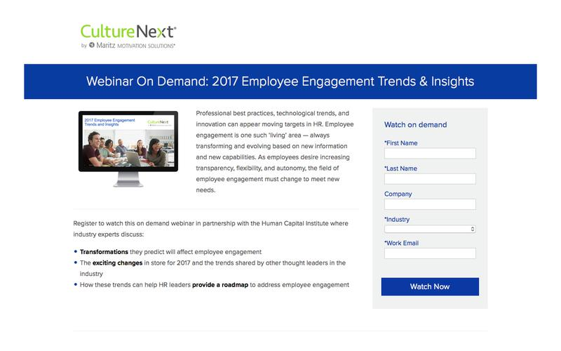 2017 Employee Engagement Trends and Insights Webinar On Demand