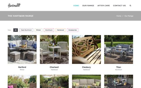 Screenshot of Products Page hartmanuk.com - Our Range  - Hartman Outdoor Furniture Products UK - captured Sept. 23, 2018