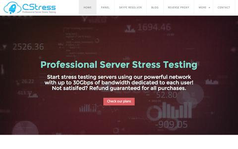 Screenshot of Home Page cstress.net - CStress - Server Stress Testing Booter - captured Sept. 12, 2015