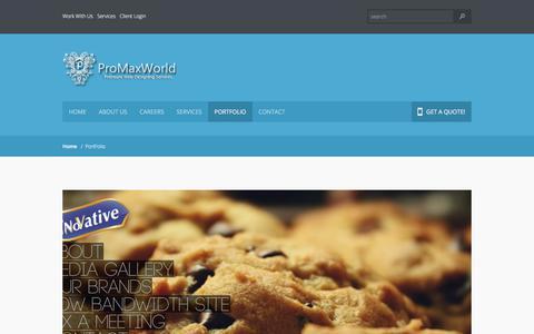 Screenshot of Case Studies Page promaxworld.com - Portfolio -  Web Designing, WebDevelopment, Graphics, Branding, SEO, ProMaxWorld - captured Sept. 4, 2017